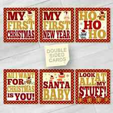 BABY MILESTONE CARDS CHRISTMAS LIMITED EDITION KIDS PHOTO PROP BABY SHOWER GIFT