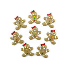 Buddly Crafts Resin Flatback Decorations - 8pcs Gingerbread Girl R9
