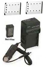 2 Batteries +Charger for Fuji FujiFilm JX500 JX520 JX550 JX580 JX700 JX710 JZ100