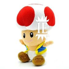 SUPER MARIO BROS. TOAD ROSSO PELUCHE plush fungo kart mushroom party red waluigi