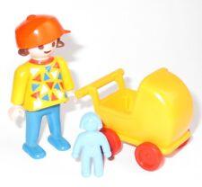 Playmobil Puppenhaus MÄDCHEN m. PUPPENWAGEN Puppe Kind Figur Spielplatz