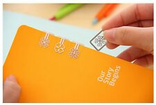 Cute Clover Paper Clips Creative Bookmark Cloverleaf Metal 20pcs Gift Special