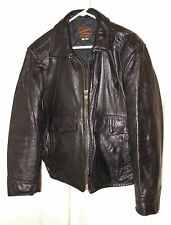 Vtg. Police Leather Motorcycle Cop Jacket Bomber Style Taylor's Leatherwear 40