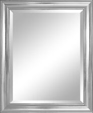 Bathroom Mirror For Wall Beveled Frame Silver Decor Mount Hanging Vanity Large