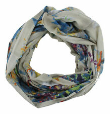 Pia Rossini Ladies Amaroso Floral Fashion Snood Scarf Blue