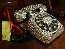 Jeweled Bedazzled Vintage Stromberg-Carlson SC500D Rotary Telephone Princess
