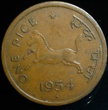 1 Pice India 1954, Bronze Weight 2.95 g Diameter 21 mm