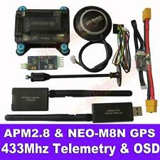 APM2.8 Flight Controller + NEO-M8N GPS, 3DR 433Mhz Telemetry, OSD, Power Module