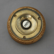 Large Traditional Brass Electric Bell Push