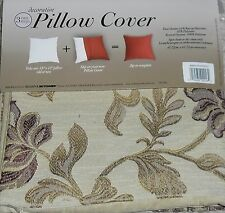 BED BATH & BEYOND DECORATIVE PILLOW COVERS BEIGE WINE FLOWER EMBROIDERED BB&B