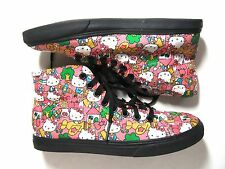 VANS HELLO KITTY 50th anniv ed. canvas high tops Sneakers Skate Shoes Women's 6