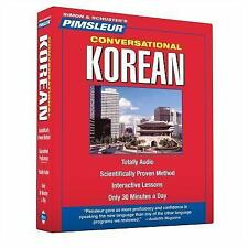 PIMSLEUR Learn to Speak KOREAN Language 8 CDs NEW!!