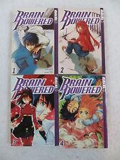 Lot of 4 Tomino & Sugisaki BRAIN POWERED 1-4 Tokyopop 2003-2004