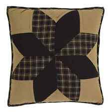 "DAKOTA STAR 16x16"" QUILTED ACCENT PILLOW WITH FILL EIGHT POINT STAR BLACK KHAKI"