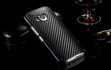 Premium New Luxury Carbon Fiber PU Leather Back Cover Hard Case For HTC One M9