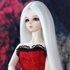"""[wamami] 97# White Straight Long Wig 1/4 MSD AOD DOD DZ BJD Dollfie 7-8"""""""