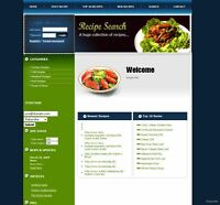 Cooking and Recipe Business Website For Adsense Revenue, Free Domain Name.