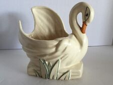 Vintage McCoy Pottery Swan Planter Vase 1940's Great Colors