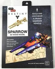 Destiny Sparrow Wood Model Kit (Incredibuilds) Assembly Required (NEW/SEALED)