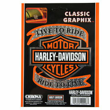 Biker Harley Davidson HD Live To Ride Logo Emblem Aufkleber Decal Sticker Chrom
