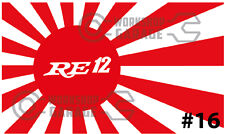 ROTARY JDM STICKERS for RX2 RX3 RX4 RX7 RX8 - RISING SUN RE12 #16