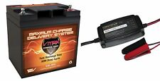 VMAX800 30AH Battery + 3.3A Smart Charger Comp.12V AGM VMAX Battery DEEP CYCLE