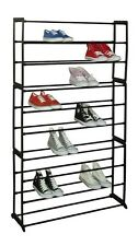 50 PAIR FREE STANDING 10 TIER SHOE TOWER RACK ORGANIZER, SHOE RACKS, SLIM DESIGN