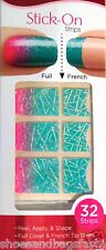 Kiss Nail Stick on Applique Strips French or Full 32 Strips # 58422 Silk Ombre