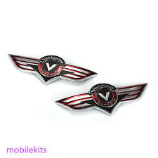 Couple Fuel Gas Tank Emblem Stickers Badge Decal For Kawasaki Vulcan Motorcycle