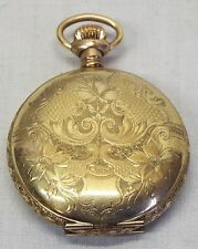 Old Antique MIGNON Gold Filled Ornate Floral Case Ladies' POCKET WATCH