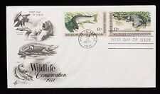 1971 FDC Wildlife Conservation Trout and Alligator 8c Stamps #1427-1428