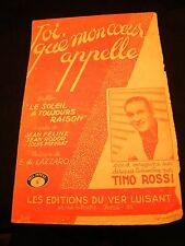 Partition Toi que mon coeur appelle Tino Rossi Music Sheet