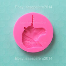 Unicorn silicone mold for fondant, chocolate, resin, clay. Molde unicornio