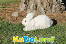 Real Size Rabbit White Easter Bunny Taxidermy Furry Animal Plush Figurine Fur