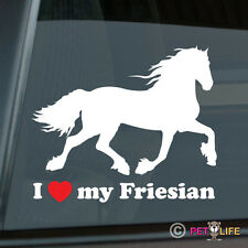 I Love my Friesian Sticker Die Cut Vinyl Horse Belgian Black