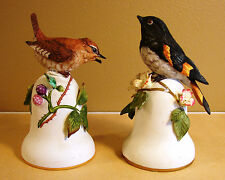 Pair of Peter Barrett Bells 1981 American Redstart & Wren - Beautiful Pieces!!!