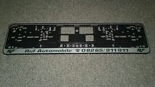 Ruf License Plate Frame Porsche New