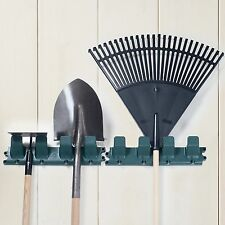 Sturdy 16.5 Inch Wall Rack for Garage Tools Rakes and Shovels