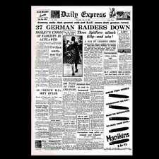 Dollshouse Miniature Newspaper - Daily Express, 11 July 1940, Battle of Britain