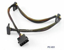 "18"" 4-Pin Molex Male to 3 SATA 15-Pin Power Connectors"