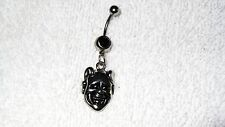 Satan Devil Face Charm Belly Button Navel Ring Body Jewelry Piercing