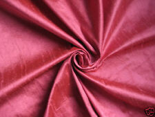 "Rose Pink 100% dupioni silk fabric yardage By the Yard 45"" wide Quilt Sew Drapes"