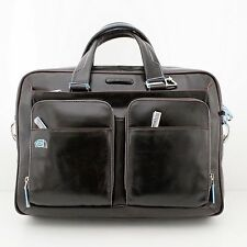 TWO HANDLES BRIEFCASE PIQUADRO BLUE SQUARE Offer !!! CA2849B2/MO BROWN