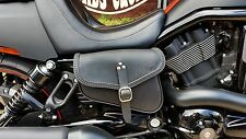 LEATHER SADDLE BAG RIGHT FOR HARLEY DAVIDSON V ROD AND NIGHT ROD ITALIAN QUALITY