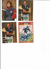 Frank Gifford hand signed pro line card in ballpoint pen