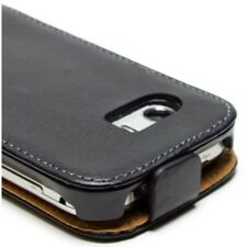 COVER FLIP CASE Samsung GT-S5300 Galaxy Pocket slim vertical cuir noir
