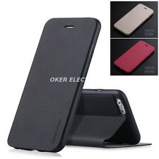 Black X-Level Genuine Leather Slim Wallet Case Stand Cover For iPhone 7 S002