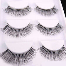 New Hot 5 Pairs Sparse Cross Eye Lashes Extension Makeup Long False Eyelashes