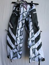 "Fly Racing KINETIC youth girls motocross pants 20"" waist, outside boots gry/wht"