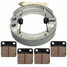 YAMAHA GRIZZLY 350 YFM350 2WD 2007 2008 2009-2014 FRONT REAR BRAKE PADS SHOES